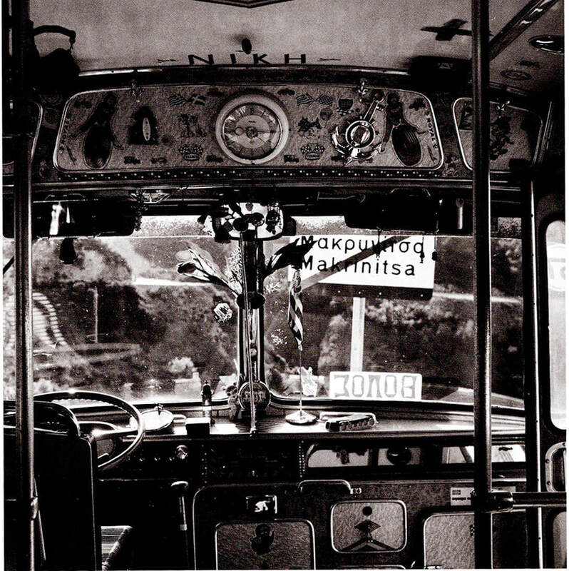 Bus trip from Volos to Makrinitsa in the past. Dimitris Letsios, (Museum of Photography, Thessaloniki)